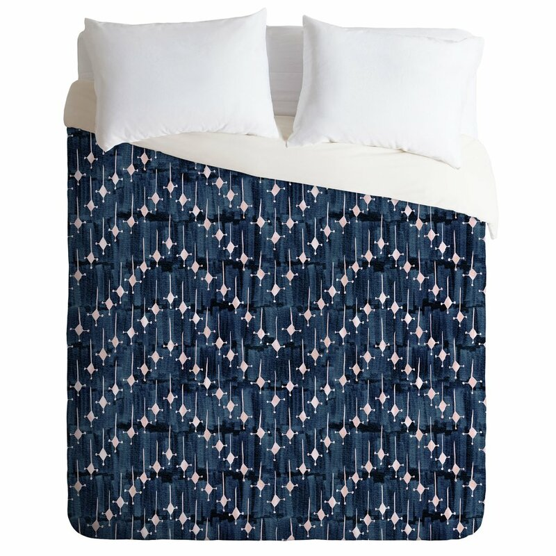 Schatzi Justina Chevron Ink Duvet Cover Set