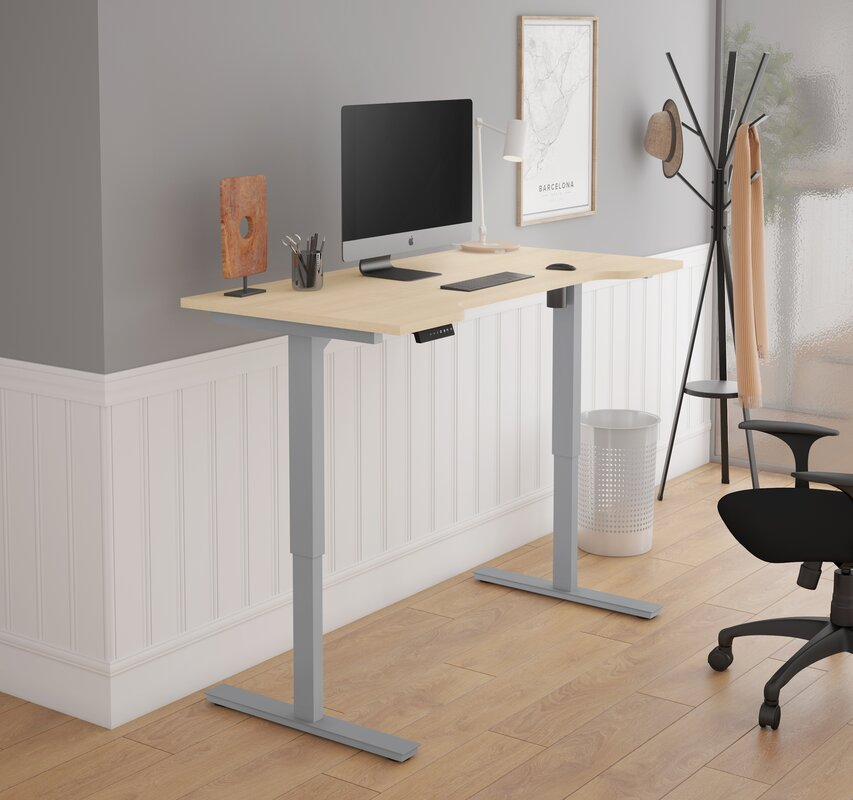 Hayden Curved Electric Height Adjustable Standing Desk