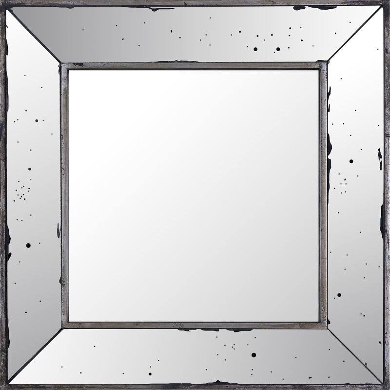 Odin Square Mirrored Frame Accent Mirror