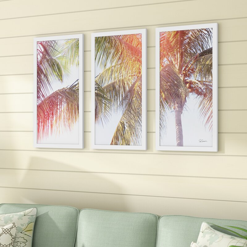 'Dream Palm III' Acrylic Painting Print Multi-Piece Image on Glass