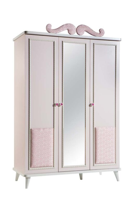 Aislinn 3 Door Wardrobe Armoire
