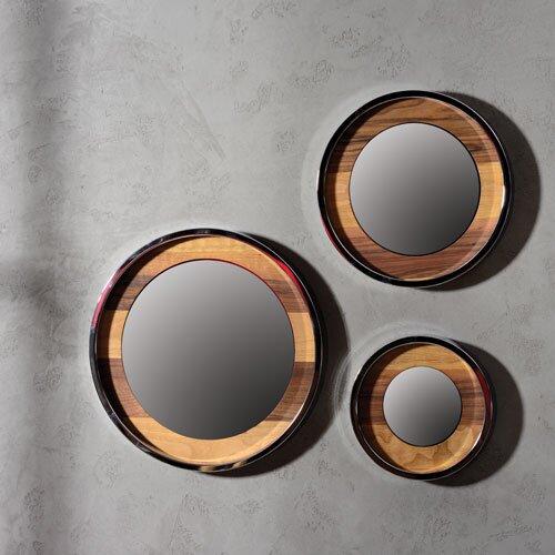 3 Piece Loren Nickel Mirror Set