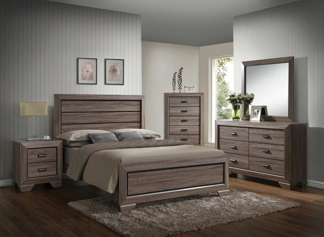 Gianna Panel Configurable Bedroom Set