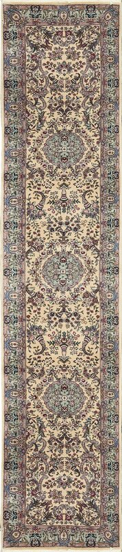 One-of-a-Kind Hand-Knotted Wool Beige/Pink Indoor Area Rug