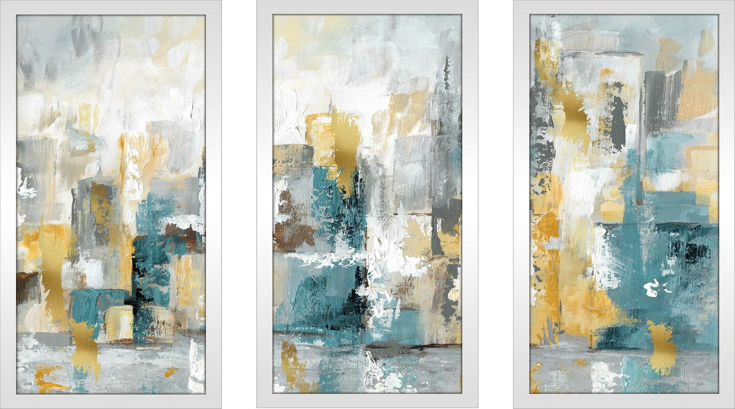 'City Views I' Acrylic Painting Print Multi-Piece Image