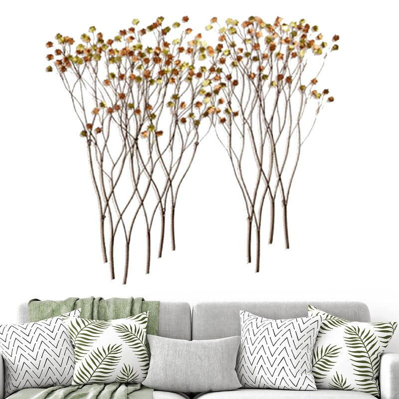2 Piece Deciduous Metal Wall Décor Set