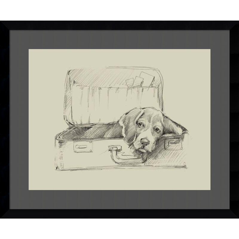 'Stowaway II (Dog)' Framed Drawing Print
