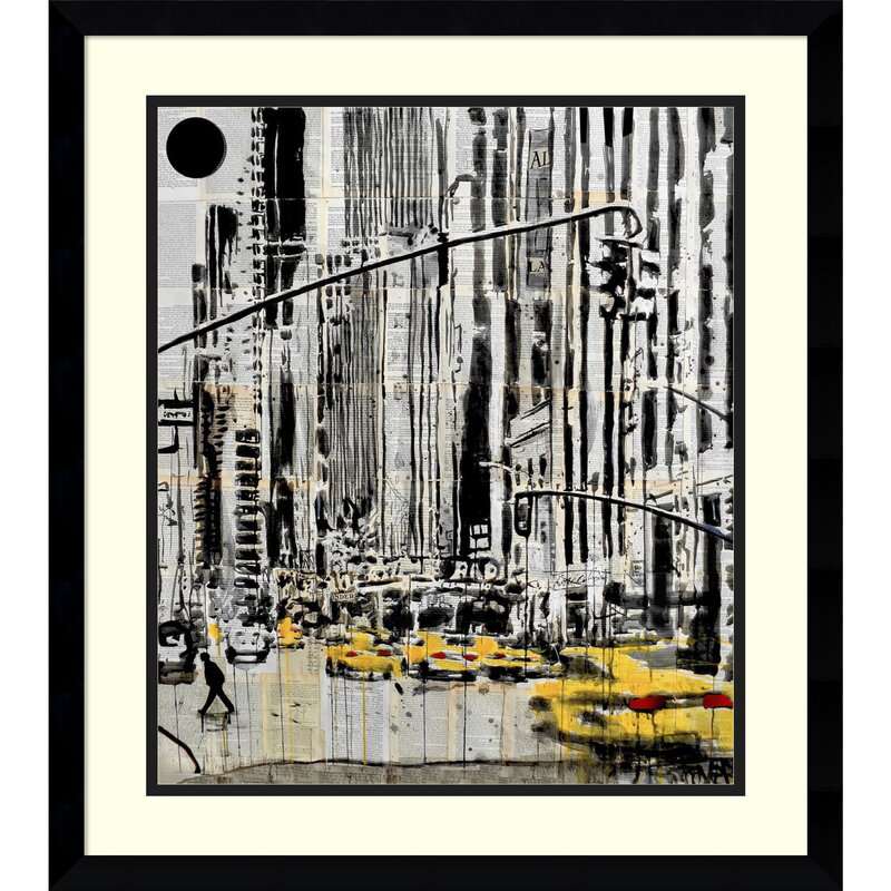 Somewhere in New York City Framed Graphic Art