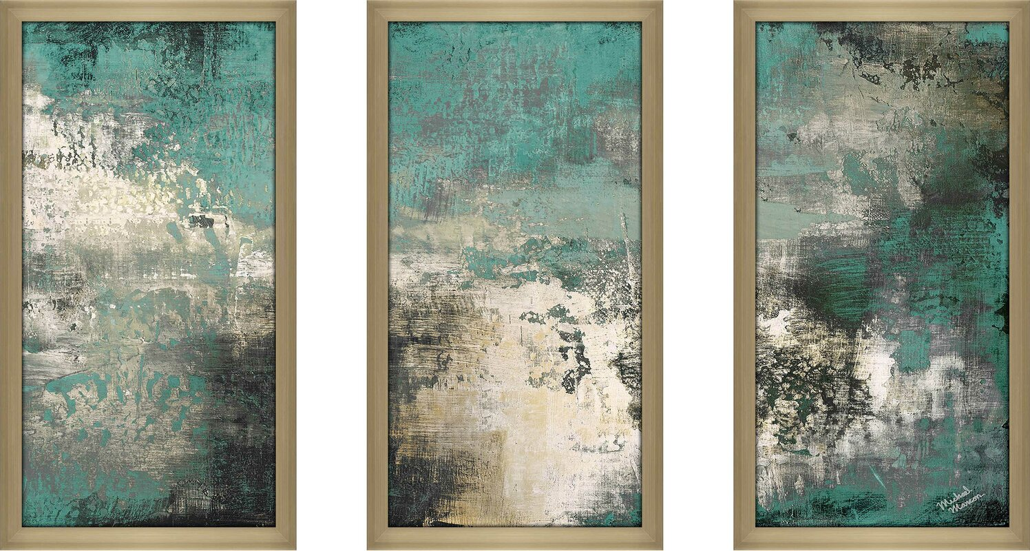 'Autumn Potential II' Acrylic Painting Print Multi-Piece Image