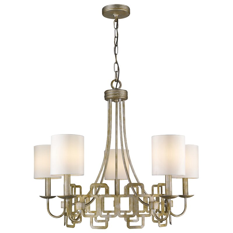 Iron 5-Light Shaded Chandelier