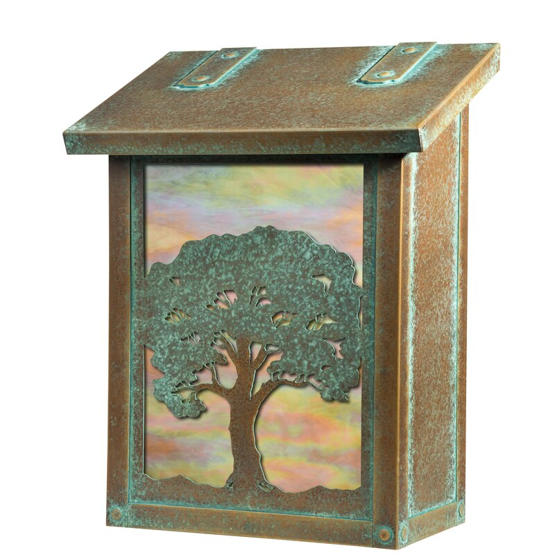 Oak Tree Verical Wall Mounted Mailbox