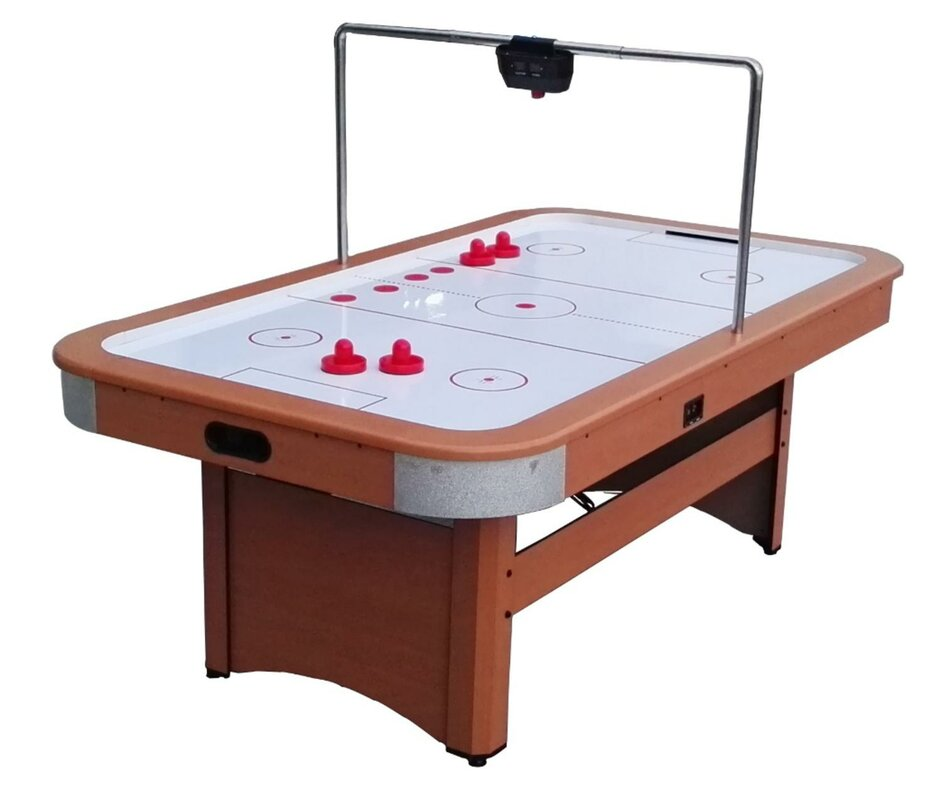 7' Four Player Air Hockey Table with Digital Scoreboard