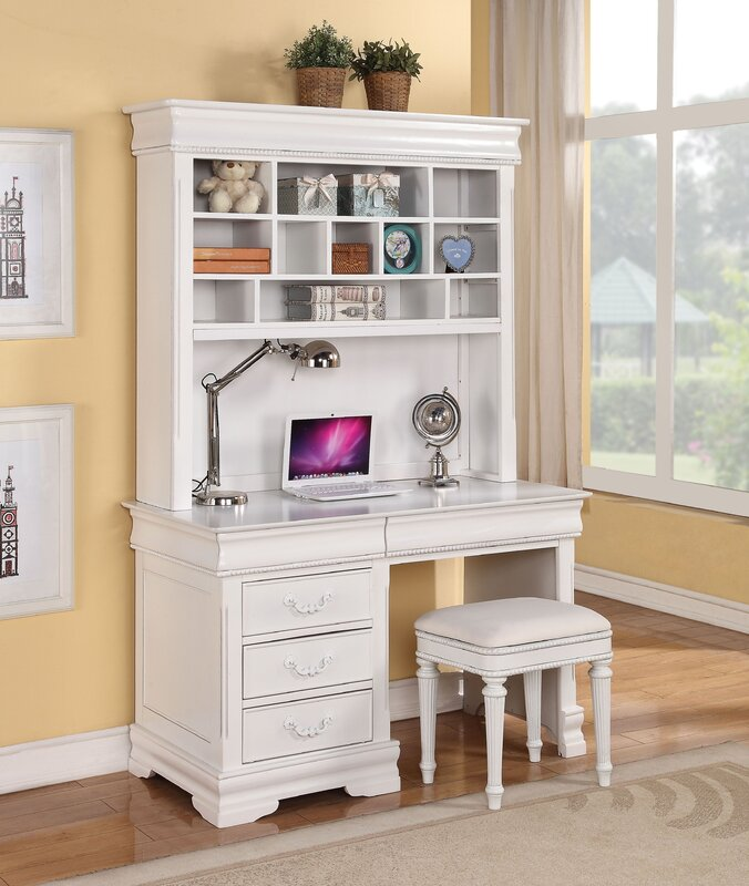 Ronda Computer Desk with Hutch and Chair Set