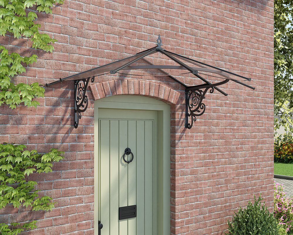 Lily Victorian 6ft. W x 4ft. D Door Awning