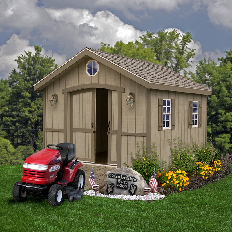 Cambridge 10 ft. W x 12 ft. D Solid Wood Storage Shed
