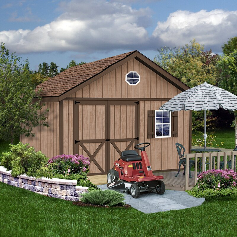 Brandon 12 ft. W Solid Wood Storage Shed