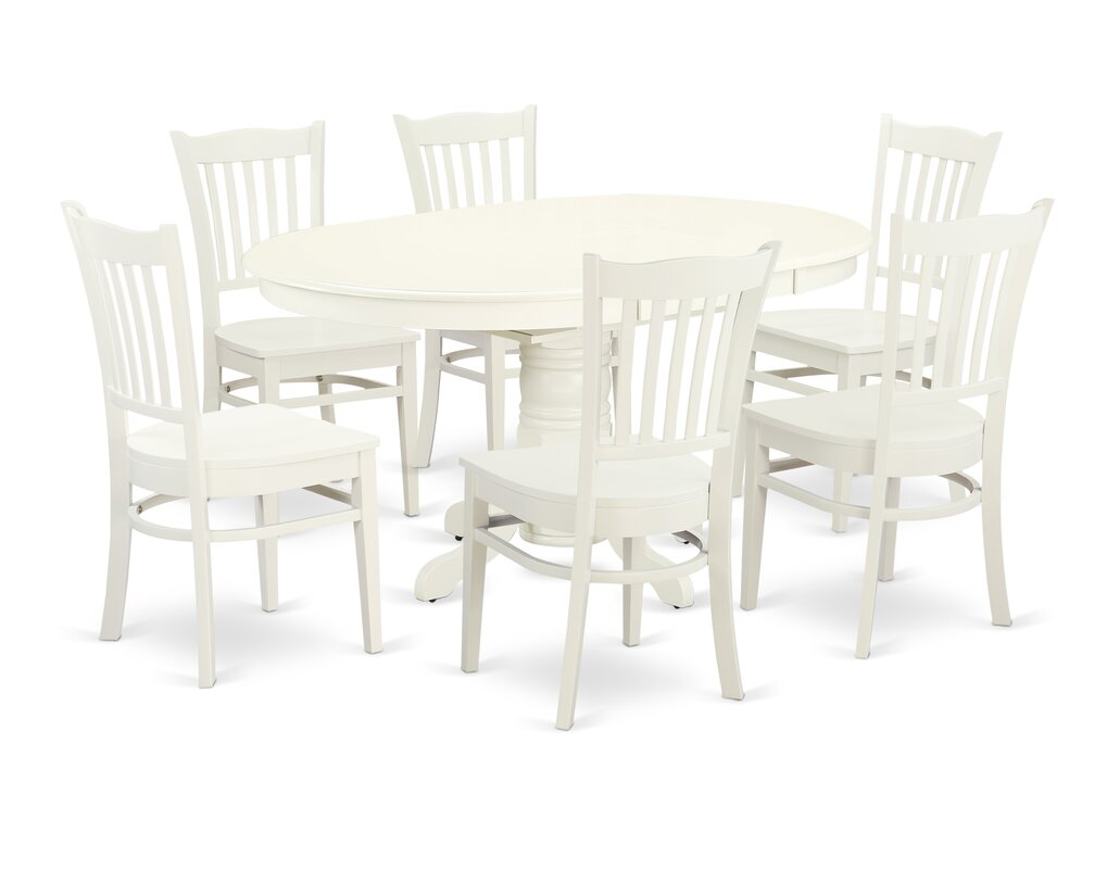 Emmaline 7 Piece Solid Wood Dining Set