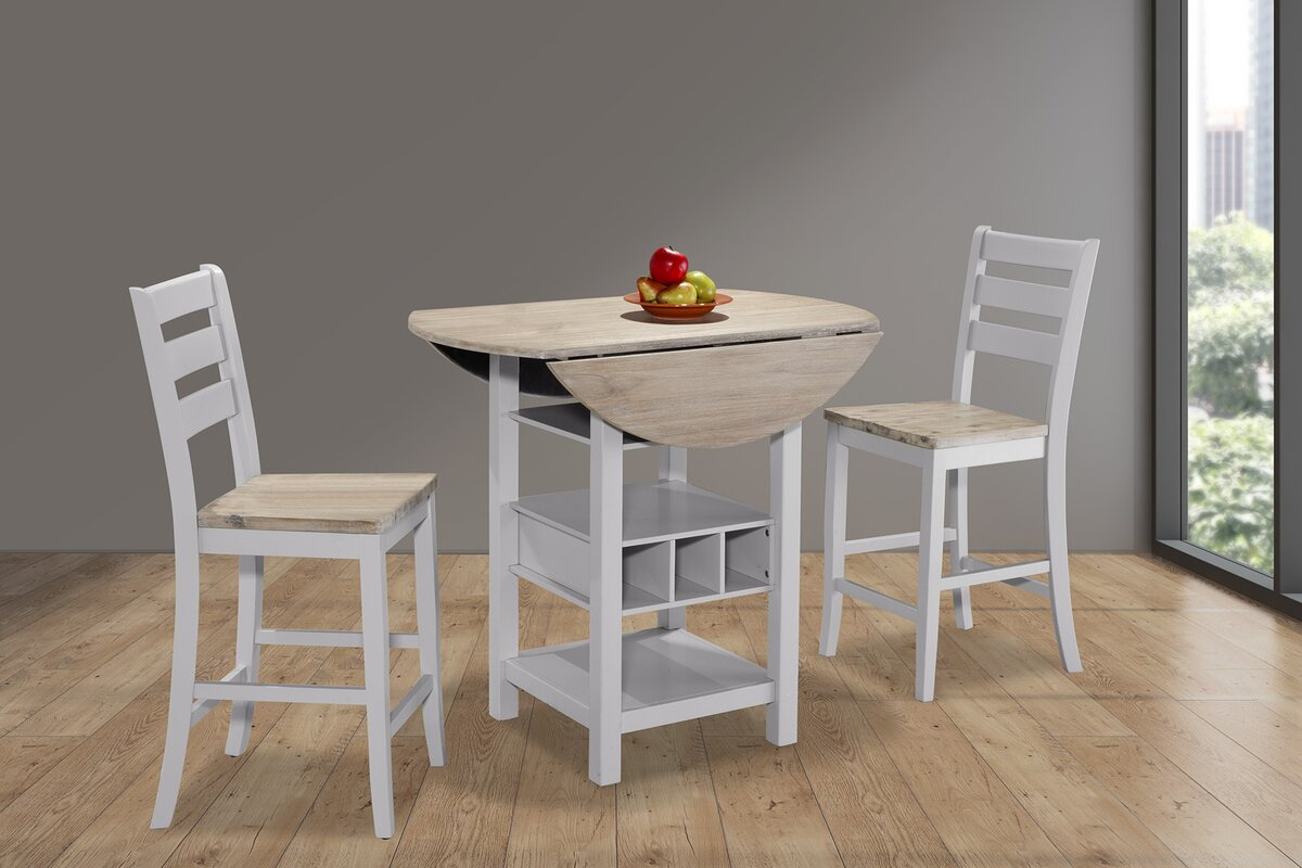 Rosaline Counter Drop Leaf Dining Table