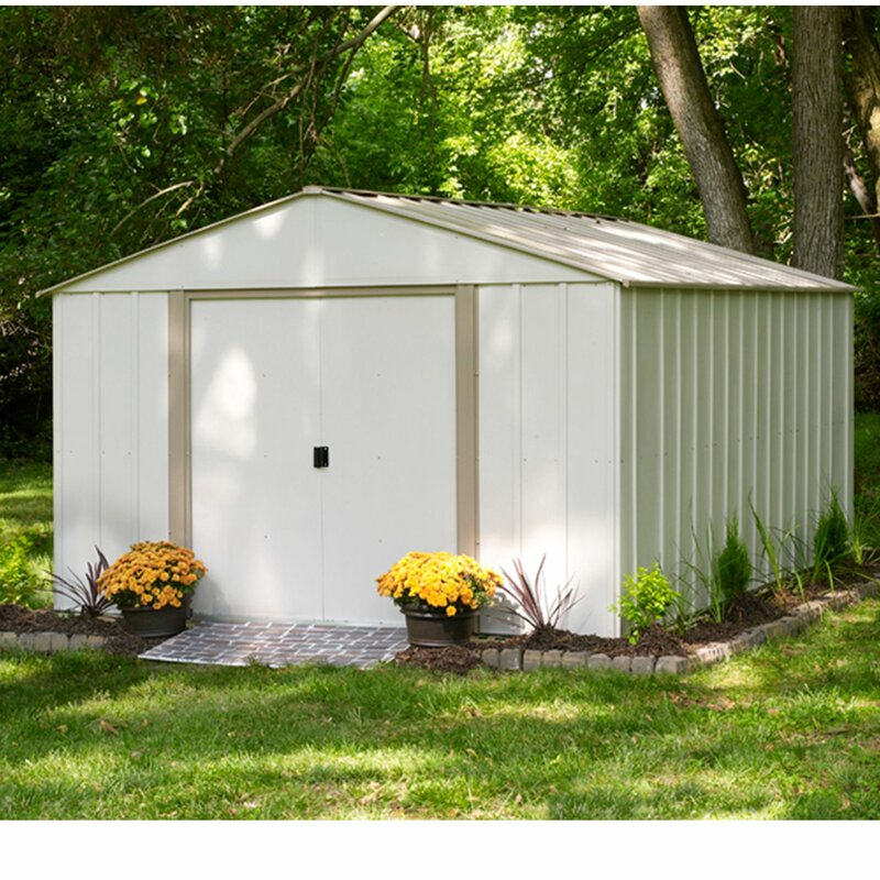 Oakbrook 10 ft. W x 13.5 ft. D Metal Storage Shed