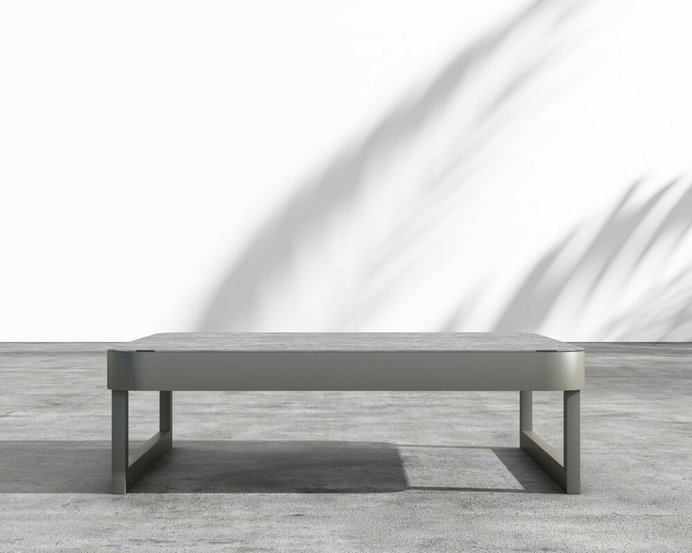 Coffman Aluminum Coffee Table