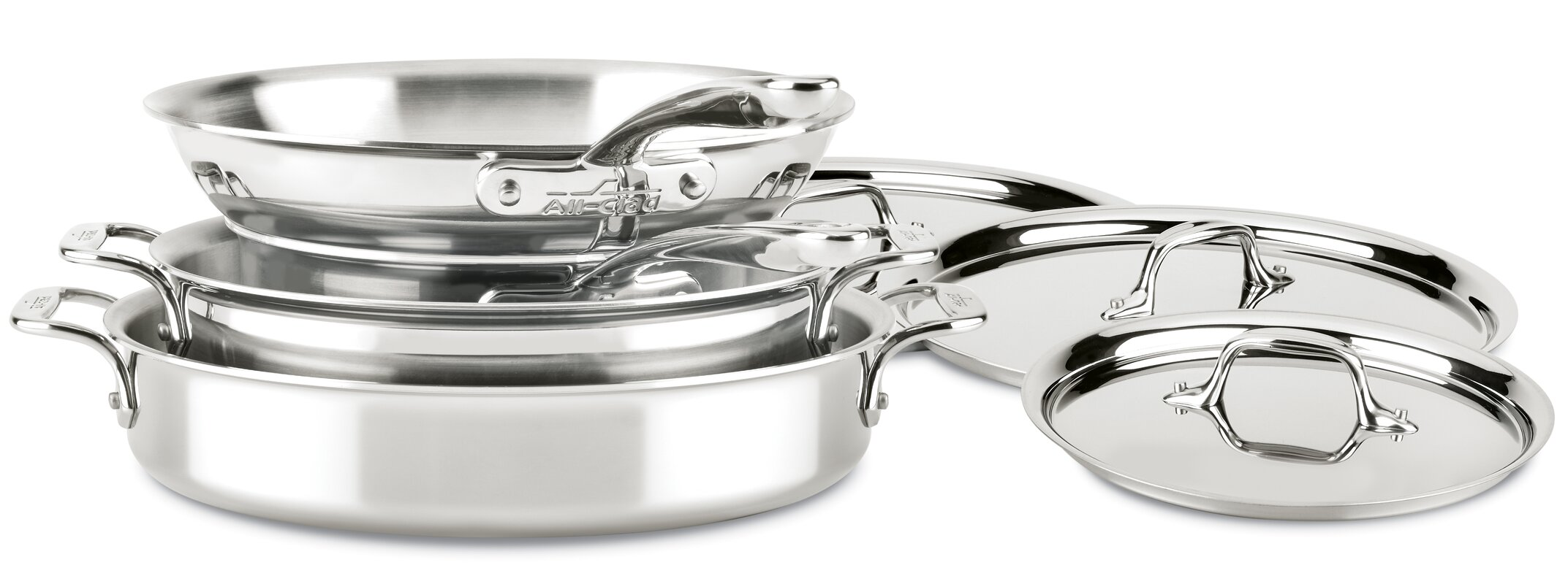 All-Clad D3 Compact 7 Piece Stainless Steel Cookware Set