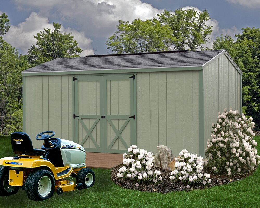 Cypress 10 ft. W x 16 ft. D Solid Wood Storage Shed