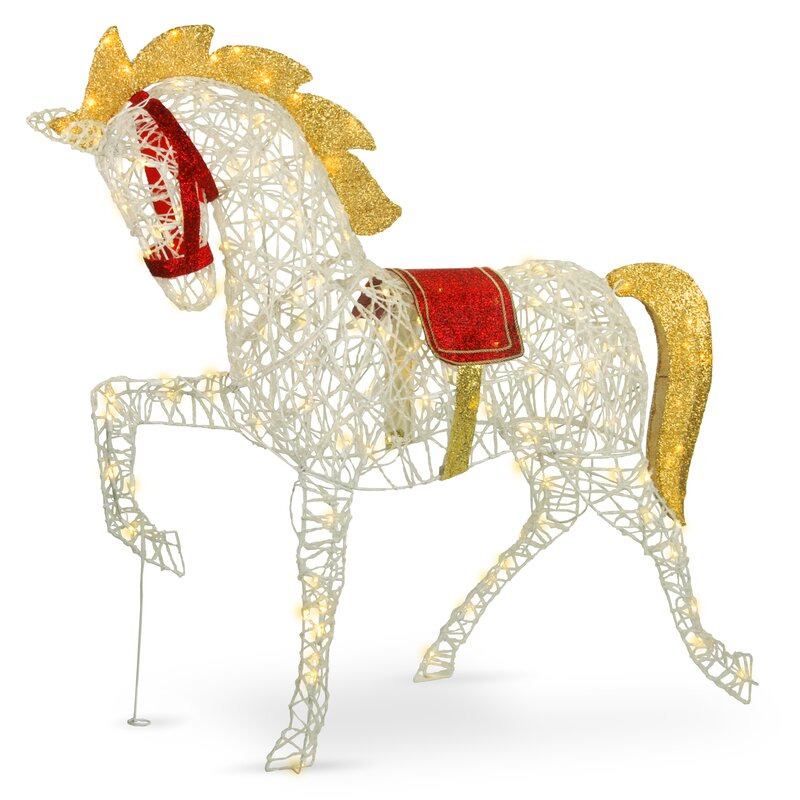 Pre-Lit Carnival Horse Lighted Display