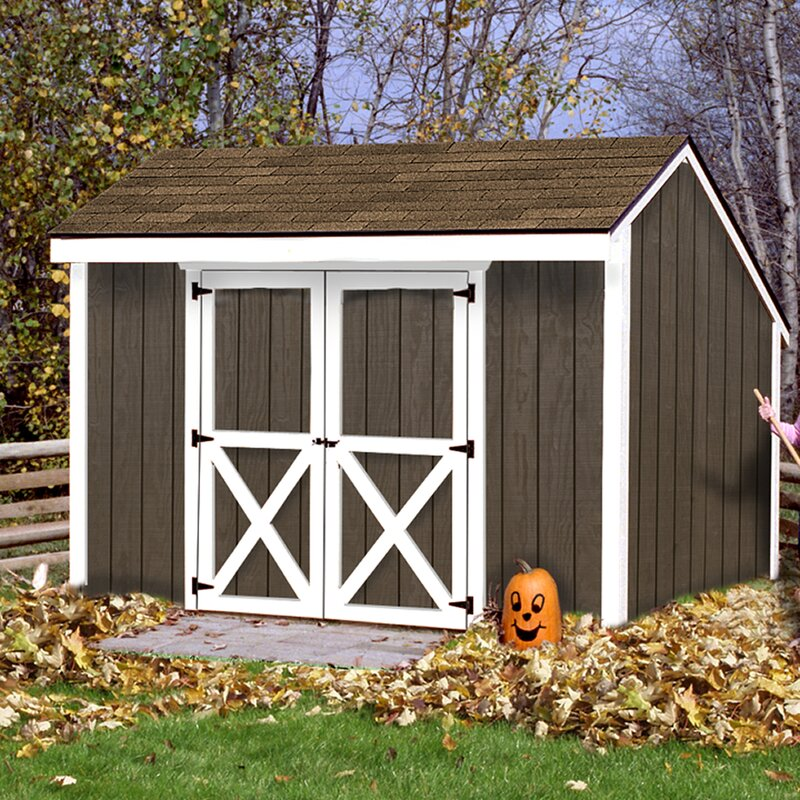Aspen 12 ft. W x 8 ft. D Solid Wood Storage Shed