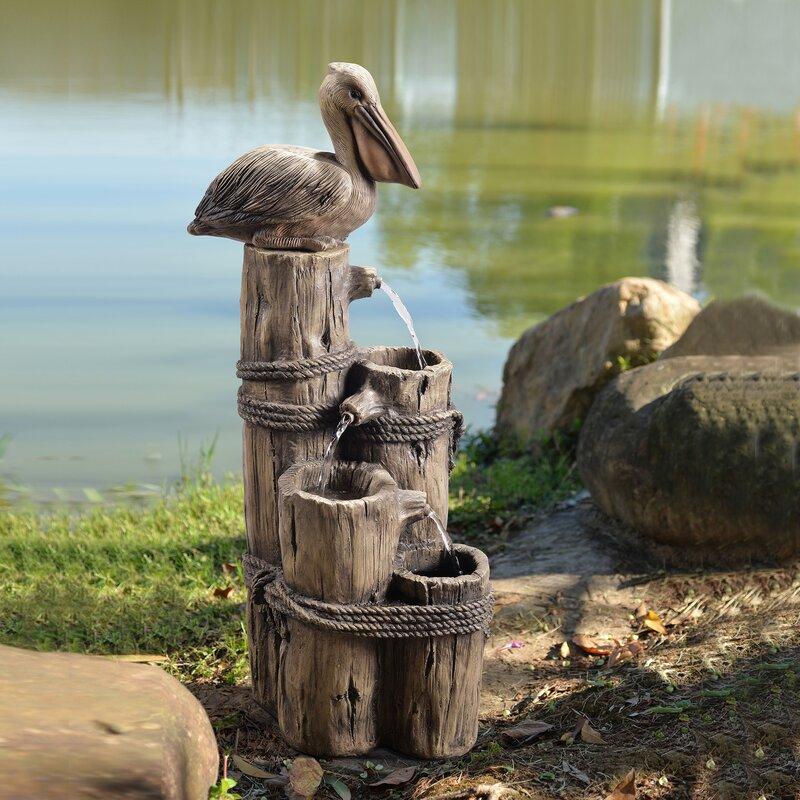 Resin Outdoor Trunk Fountain