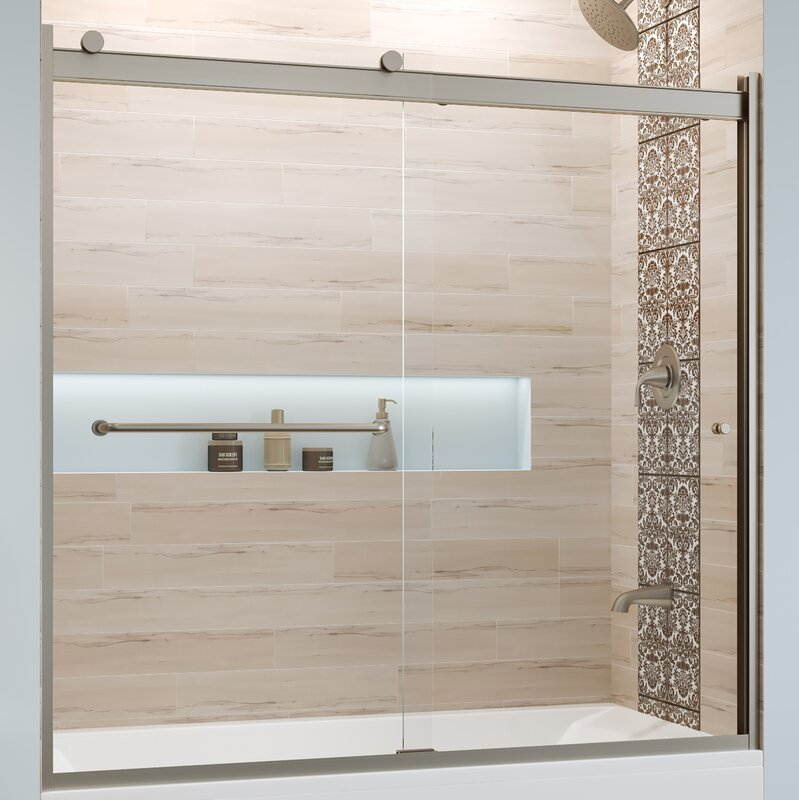 "Rotolo 60"" x 57"" Bypass Semi-Frameless Tub Door"