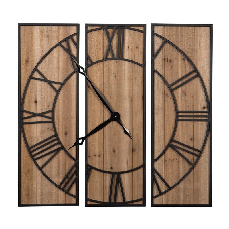 Marcus Oversized 3 Panel Wall Clock