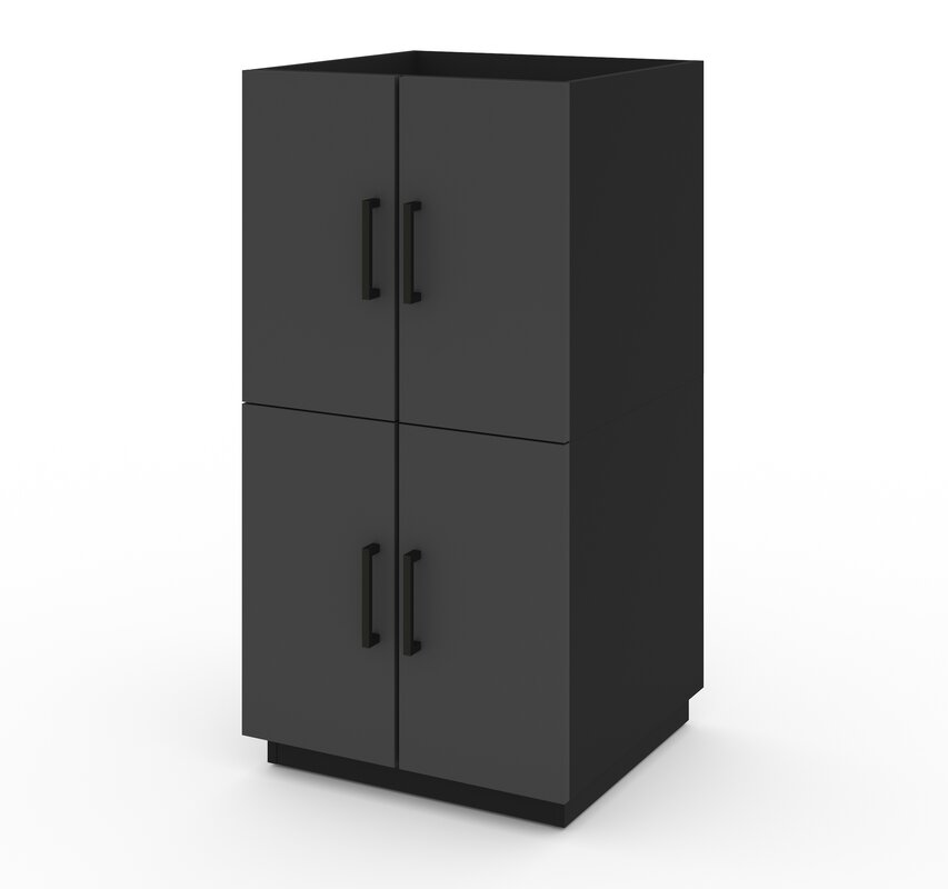 "Chavez 41.3"" H x 21"" W x 20.3"" D 2 Stackable Cabinets"