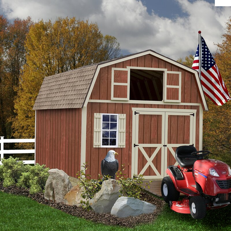 Millcreek 12 ft. W Solid Wood Storage Shed