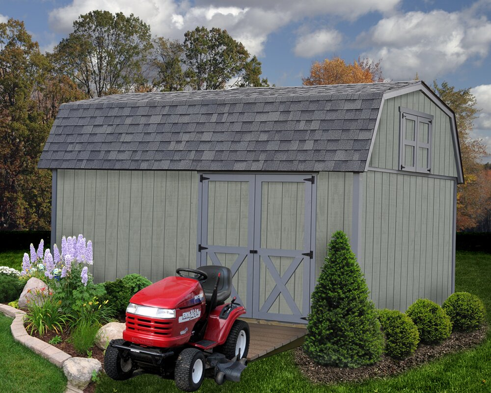Meadowbrook 10 ft. W x 16 ft. D Solid Wood Storage Shed