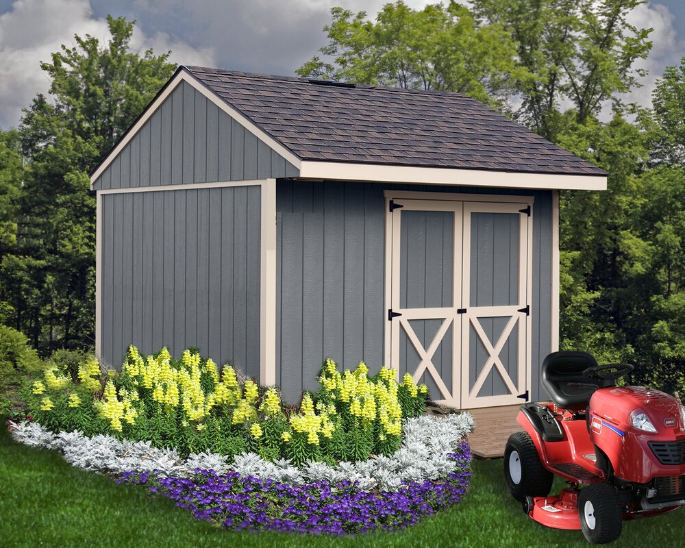 Northwood 10 ft. W x 10 ft. D Solid Wood Storage Shed