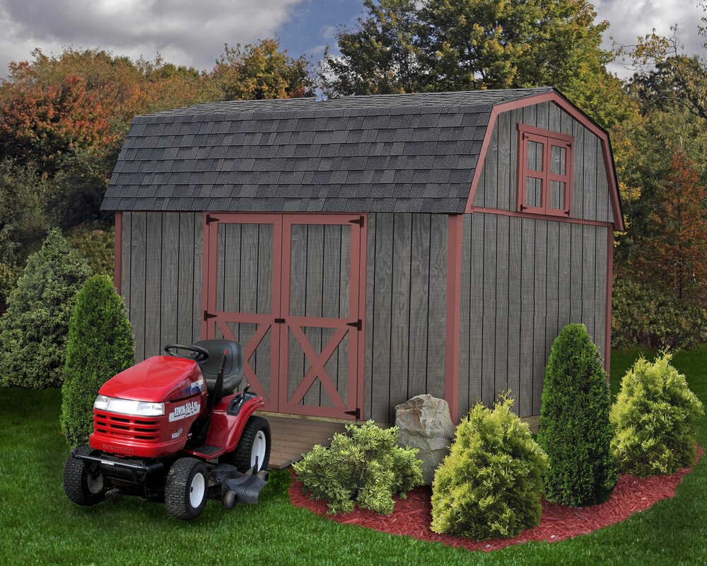 Meadowbrook 10 ft. W x 12 ft. D Solid Wood Storage Shed