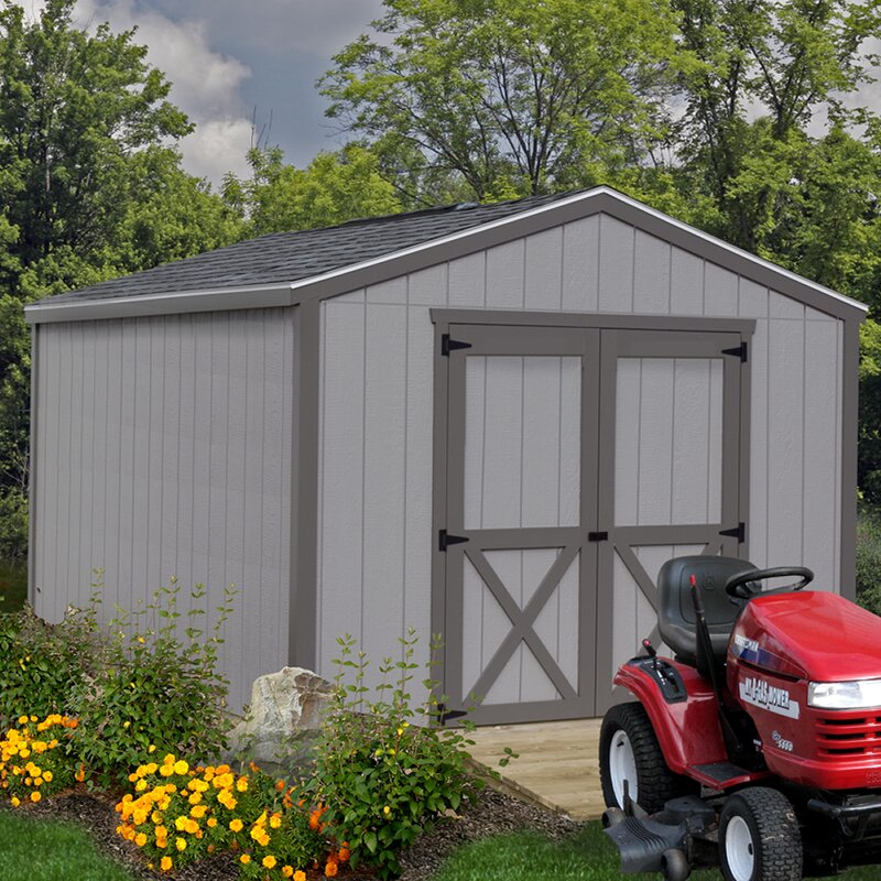 Cypress 10 ft. W Solid Wood Storage Shed