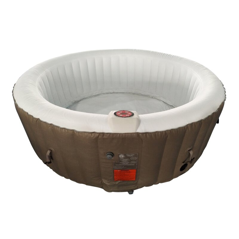 Round Hot Tub 4-Person 130-Jet Inflatable Hot Tub