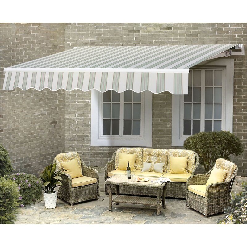 Manual 10ft. W x 8ft. D Retractable Window & Door Awning