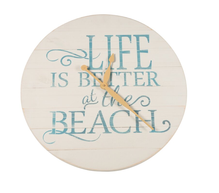 "Oversized Blum Weathered Beach 24"" Wall Clock"