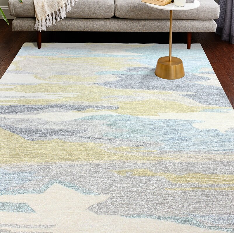 Jared Beige/Blue/Gold Area Rug