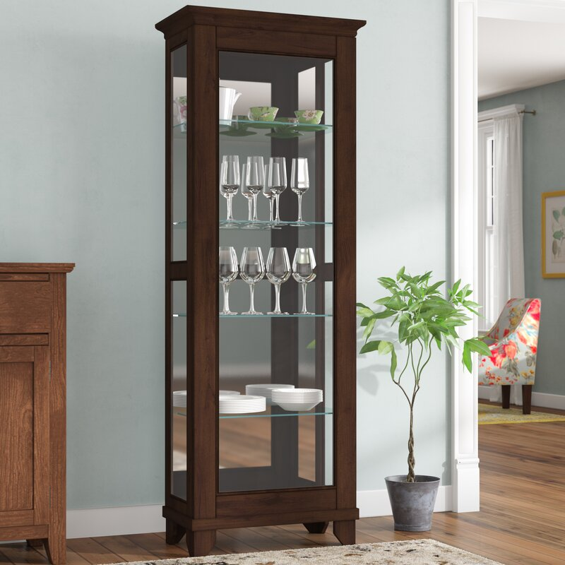 Monticello Lighted Curio Cabinet