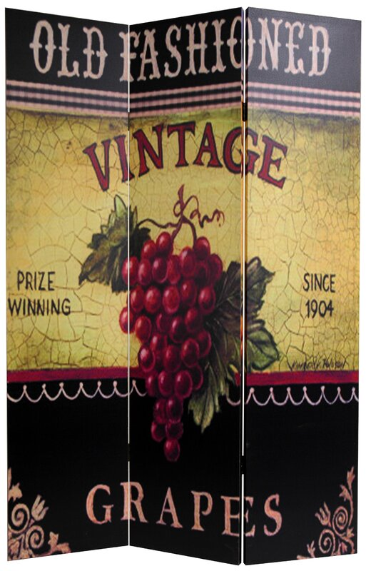 Goodspeed Grapes and Cherries 3 Panel Room Divider