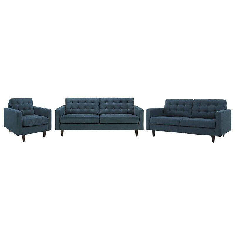 Warren 3 Piece Living Room Set