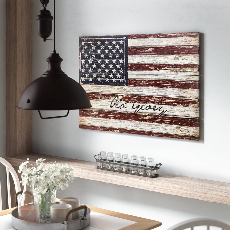 'Old Glory' Outdoor Wooden Plank Graphic art