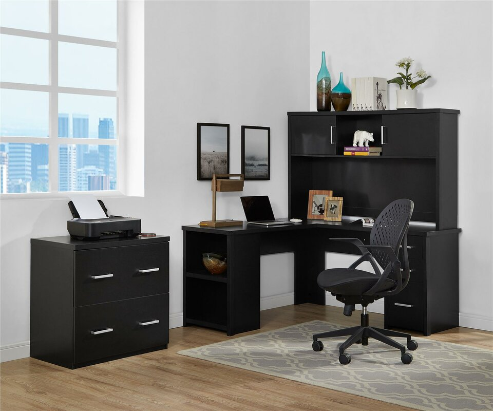 Canvey 3 Piece L-Shape Desk Office Suite