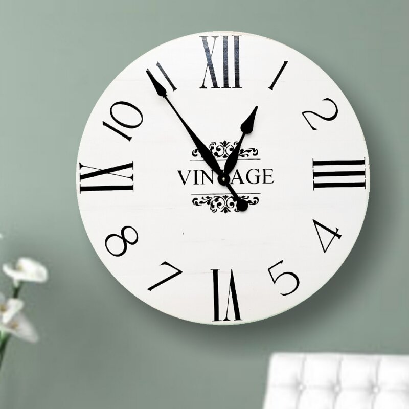 Oversized Norfolk Farmhouse Wall Clock