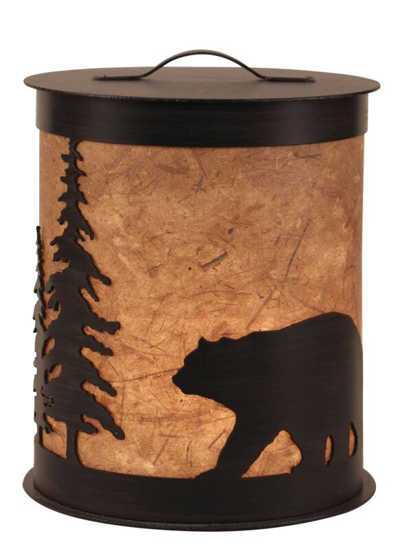 Kodiak Bear and Feather Tree Accent Night Light