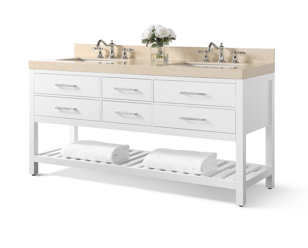 "Jauss 72"" Double Bathroom Vanity Set"