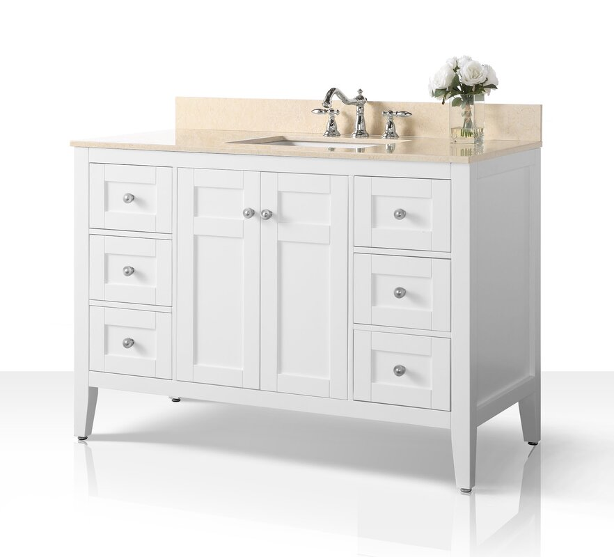 "Fuller 48"" Single Bathroom Vanity Set"